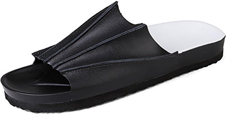 ZJM  Shell Form Slipper Strand Schuhe Open Toe Designed Soft rutschfeste Bequeme Vintage (Farbe : Schwarz  größeSlipper Open Toe Designed rutschfeste Bequeme