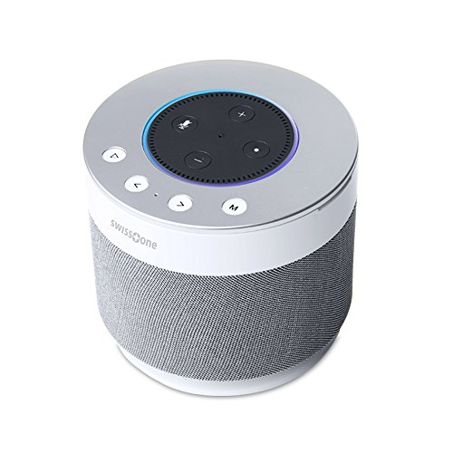Swisstone Dotbox 1 Bluetooth-Lautsprecher (Akkubetrieb, 360° Surround Sound, Made for Echo Dot (2. Gen.)) weiß