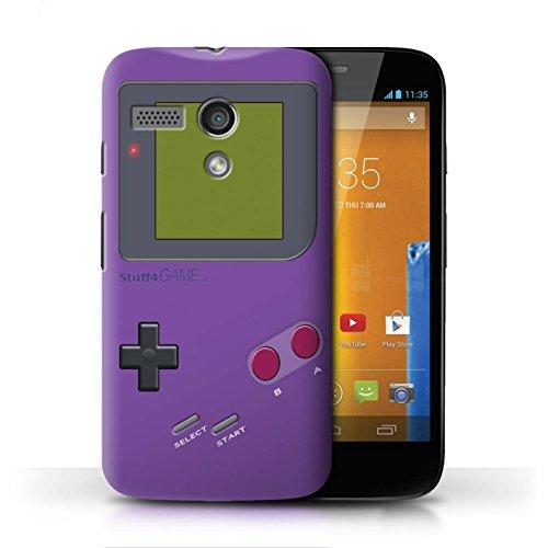 Stuff4® Hülle/Case für Motorola Moto G (2013) / Violett Muster/Videogamer/Gameboy Kollektion - G Moto Case Gameboy Motorola
