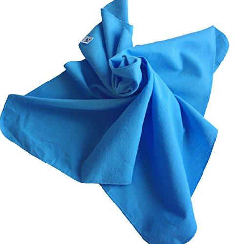Moltontücher | Baumwolltücher - 5er Pack | 80x80 cm - 3x blau, 2x weiß | Schadstoffgeprüft - Öko-Tex Standard 100 | kochfest bei 95° C | Spucktücher | Flanelltücher | Ausgefallene Geschenk zur Geburt