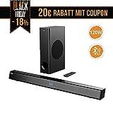 meilleur Barre de son avec Subwoofer, ABOX Barre de son pour TV 34 Pouces 120W 2.1 Canal Haut-Parleur, Wireless & Wired Bluetooth 4.2 Soundbar, Son Surround... pas cher