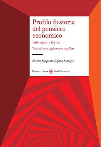 Profilo di storia del pensiero economico. Dalle origini a Keynes