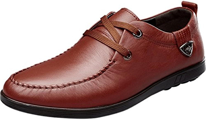 MUYII Oxfords Kleid Schuhe Für Männer Handgefertigte Verschleißfeste Herren Schnürschuh Plain Toe Echtes Leder