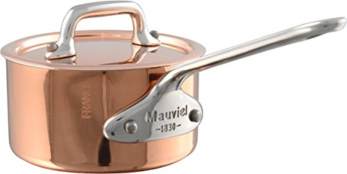 Mauviel 9 cm M'Minis Copper Saucepan and Lid with Stainless Steel Handle