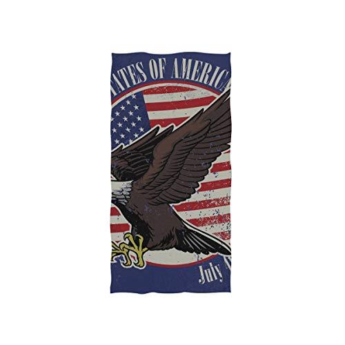 American Independent Tag Symbol Eagle Soft Spa Strand Badetuch Fingerspitze Handtuch Waschlappen Für Baby Erwachsene Badezimmer Strand Dusche Wrap Hotel Reise Gym Sport 30x15 Zoll -