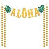 Banner fiesta aloha ZERHOK Banner aloha Luau Bandera fiesta aloha decoración aloha para fiesta de...