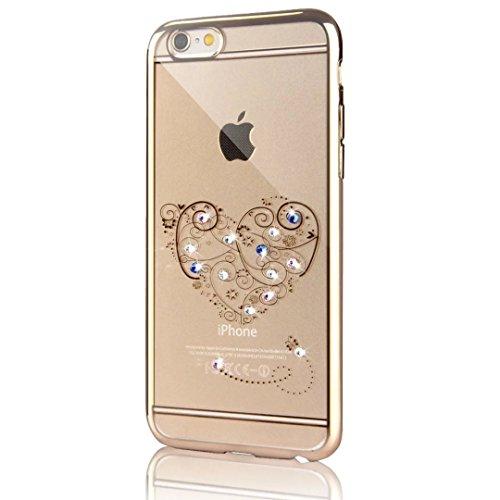 iPhone 6s Hülle, iPhone 6 Hülle, Vandot Plating Glänzend TPU Case Cover für iPhone 6s 6 Schutzhülle Transparent Luxus Diamant Rhinestone Bling Muster Pattern Telefonkasten Abdeckung Silikon Weich Dünn Color 10