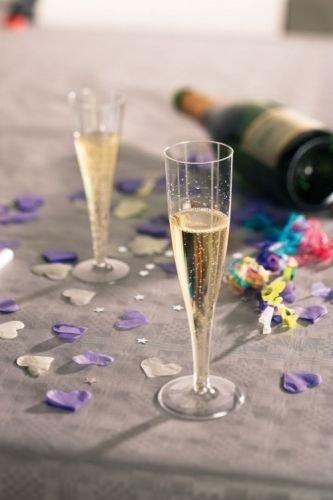 10Stück x High Quality One Stück Kunststoff Einweg Champagner Flöte/Glas-160ml (6oz.) von wecansourceitltd®