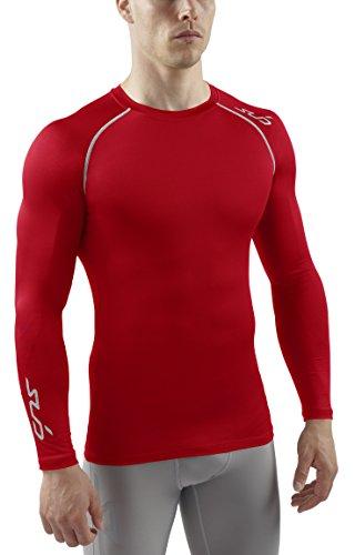 sub-sports-calor-stay-cool-camisa-de-compresion-de-manga-larga-para-hombre-de-la-capa-base-rojo-l