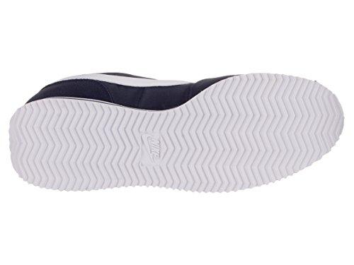Nike Mens Cortez Nylon Trainers Obsidian/White/Mtllc Slvr
