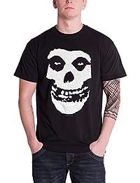 Misfits Herren T Shirt Schwarz Classic Fiend Skull band logo design offiziell