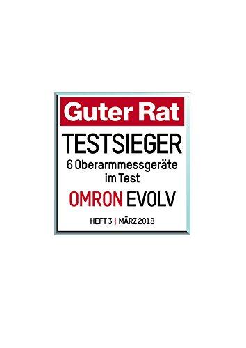 Omron EVOLV All-in-One, digitales Oberarm-Blutdruckmessgerät HEM-7600T-E, kabellos, schwarz - 7
