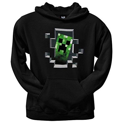 JINX Minecraft Creeper Innen-Kapuzenpullover, Schwarz, -