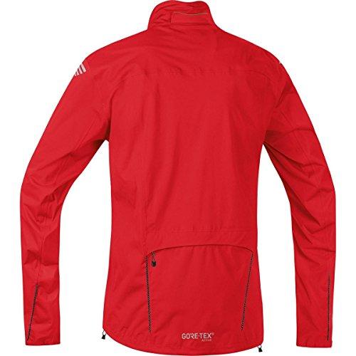 GORE BIKE WEAR Homme Veste de cyclisme sur route ou VTT, Imperméable et légère, GORE-TEX Active, ELEMENT GORE-TEX® Active, Taille M, Rouge, JGELEA350004