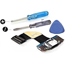 MMOBIEL Conector Dock cargador para Samsung Galaxy Tab PRO 8.4 SM - T320 de repuesto. Puerto micro USB Cable Flex con adhesivo. Incluye dos destornilladores y adhesivos para una fácil instalación