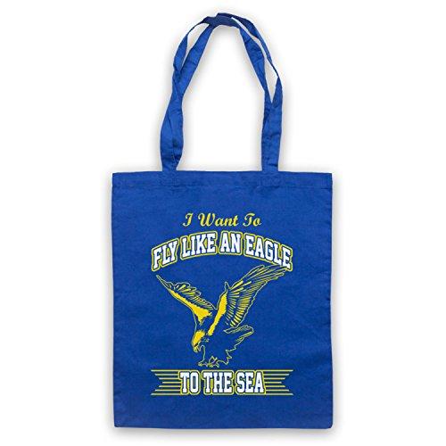 Inspiriert durch Steve Miller Band Fly Like An Eagle Inoffiziell Umhangetaschen Blau