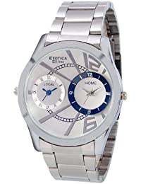Exotica White Dial Analogue Watch for Men (EX-90-Dual-CW)