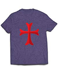 lepni.me Camisetas Hombre El Caballero Templario de la Cruz Roja, el Templo de