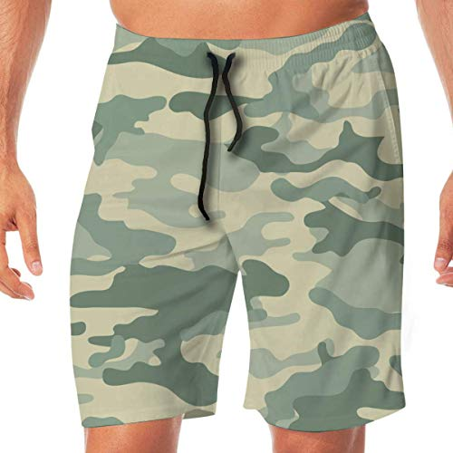 Generic Men's Workout Shorts Vector - Camouflage Seamless Background (Universal) by DragonArt Quick Dry Beach Board Short with Pocket,XXL -