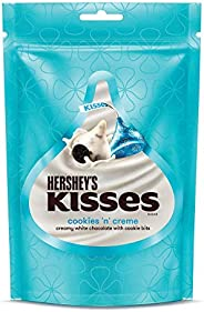 Kisses Hershey's Kisses Cookies & Creme Chocolate Pouch 33.6 gm (Pack of 8) Pouch,