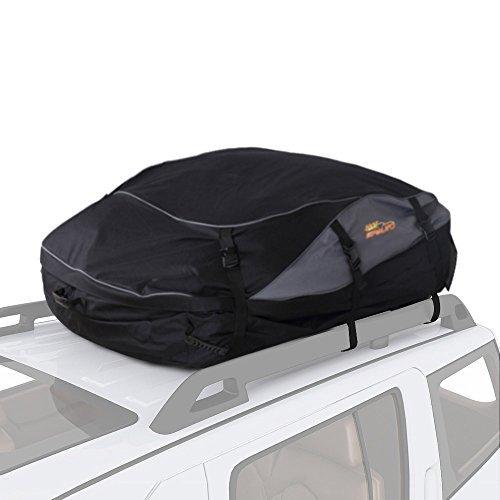 SPAUTO Dachgepäckträgertasche – 100% wasserdicht Duty-Dachträger Weiche Dachgepäckträger mit Breiten Gurten – einfach zusammenklappbar schwarz Schwarz 20 Cubic Feet Upgrade