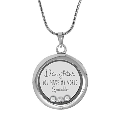 Daughter Memory Charm Necklace (18