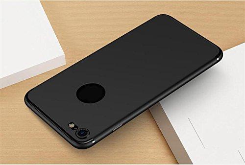 WYHYDCG 2 Stück, Ultra-dünne Matte TPU Anti-Rutsch-Gummi-Abdeckung, schützende Shockproof Gel Handy-Fall, schlanke robuste Rückenprotektor Stoßstange für Apple iPhone , Black