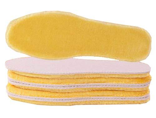 Preisvergleich Produktbild Herren Einlegesohlen aus dicker Wolle,  flauschiges Fleece,  A7,  3 Paar