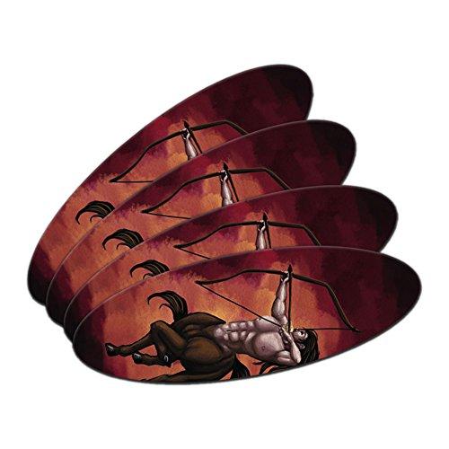 Centaur–Schütze Mythologie mythischen Kreatur Archer Schleife Pfeil Oval Nagelfeile Emery Board 4Stück