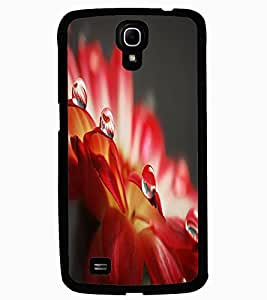 ColourCraft Amazing Water Drops On Flower Leafs Design Back Case Cover for SAMSUNG GALAXY MEGA 6.3 I9200