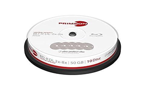 Primeon BD-R Rohlinge (8x Ultra Speed, 50GB, 10-er Spindel) (Bd-r Rohlinge)
