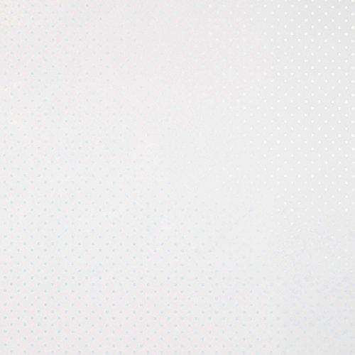 CASELIO ONLY Girl 61995008Vliestapete Polka Dots in weißem Hintergrund und Zeichnungen in blau metallic