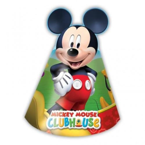 Mickey Mouse Clubhouse Party - Playful Mickey Party Cone Hats x 6