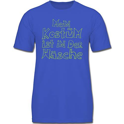 Karneval & Fasching Kinder - Mein Kostüm ist in der Wäsche - 152 (12-13 Jahre) - Royalblau - F130K - Jungen Kinder T-Shirt