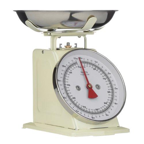 Premier Housewares Báscula para cocina (5 kg), color crema retro