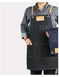 Hermoso delantal Delantal de cocina para hombres y mujeres delantal cafetería tienda de té tienda de