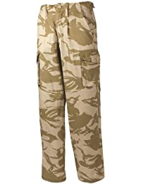 MENS ARMY CARGO COMBAT DESERT SAND CAMO TROUSERS MILITARY SOILDIER WORK WEAR, Beige, 36