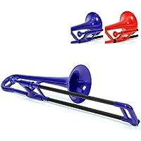 PBone 700639 - Trombón con boquilla y funda, color Azul