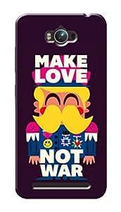 Asus Zenfone Max ZC550KL Black Hard Printed Case Cover by Hachi - Make Love Not War Design