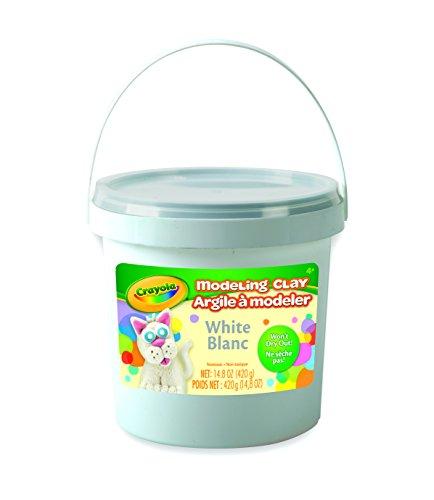 Crayola Modelliermasse für Kunstwerkzeuge, ca. 400 ml, Weiß, 1 lb, weiß, 1