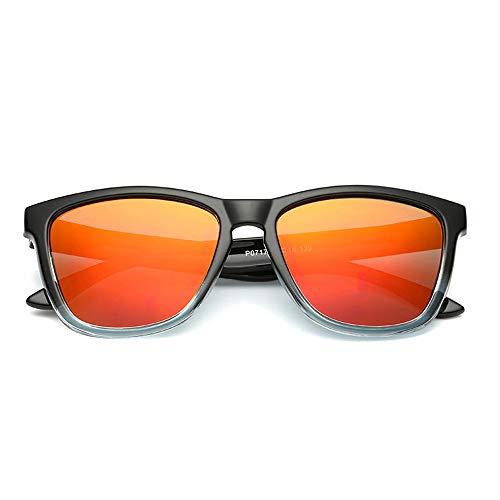 Herren Polarisierte Fahren Sonnenbrille Metall Rahme Ultra Leicht,Orange