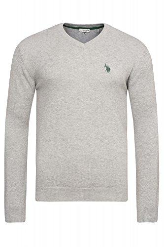 U.S. Polo Assn. - Maglione - Uomo grigio chiaro XXL