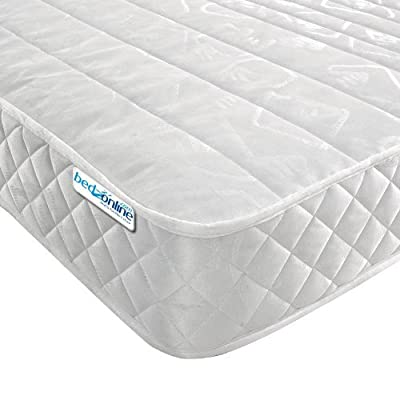 "4ft6 DOUBLE MICRO QUILT MATTRESS 7"" DEEP IN LUXURY DAMASK FABRIC - low-cost UK bed store."