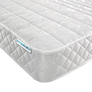 """4ft6 DOUBLE MICRO QUILT MATTRESS 7"""" DEEP IN LUXURY DAMASK FABRIC"""