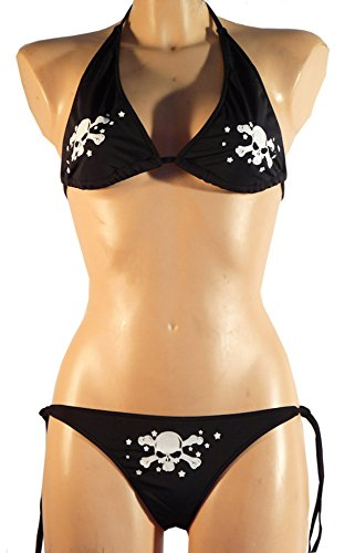 Bikini Schwarz Mit Totenköpfen - S/M (Totenkopf-bikini)