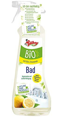 Poliboy - Bio Badreiniger - hygenische und starke Reinigung - gegen Kalkreste und Wasserflecken - Sprühflasche - 500ml - Made in Germany