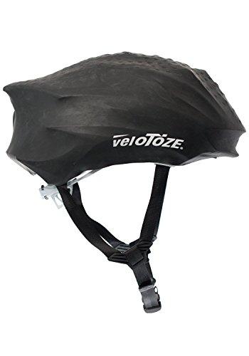 velotoze Wasserdicht Radfahren Helm Cover, schwarz (Kalt-wetter-helm Zubehör)