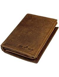b1f3a5db7b273 Louis Wallis Geldbörse - Herren Geldbörse aus hochwertigem Wildleder -  Geldbeutel mit 13 Kartenfächern und Münzfach