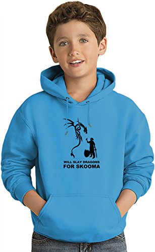 Will Slay Dragons for Skomma Lightweight Hoodie For Kids | 80% Cotton-20%Polyester| DTG Printing| Unique & Custom Jumpers, Sweatshirts, Sweaters & Kids Clothing By Wicked Wicked