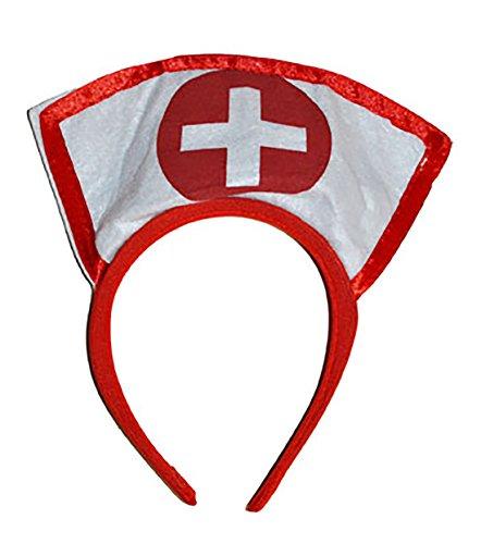 Fancy Ole - Kostüm Krankenschwester - Tiara Haarreifen Kopfbedeckung, Weiß (Nurse Naughty Zubehör)